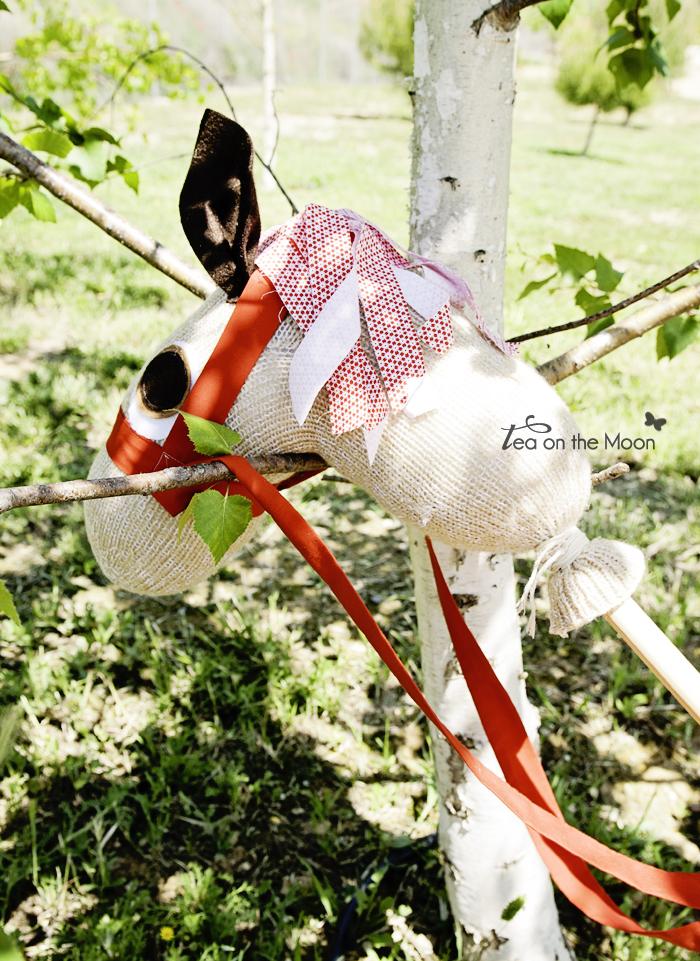 caballo hecho con calcetin