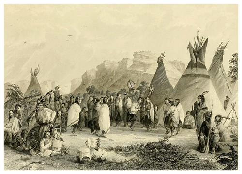 020-Danza de las cabelleras de los Dakotas-The Indian tribes of the United States..1884-H. R. Schoolcraft