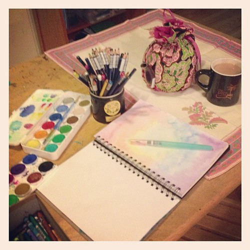 Tea with art journal