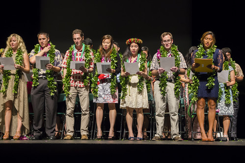 "<p>Hawaii's newest MDs recite the Hippocratic Oath during the John A. Burns School of Medicine Convocation Ceremony at Kennedy Theatre. May 12, 2013.<br /> <br /> For more photos go to the <a href=""http://www.flickr.com/photos/uhmed/sets/72157633482981004/with/8733152945/""> School of Medicine's Flickr album.</a></p>"