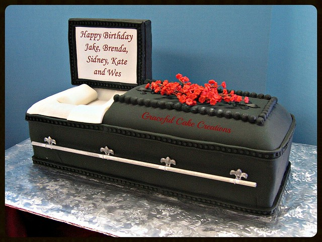 Casket Cake Pictures