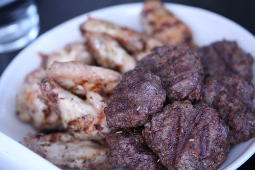 Grilled Grass Fed Burgers and Wings