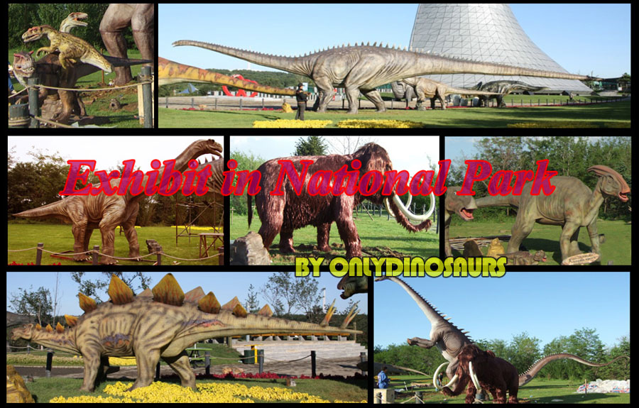Dinosaur Animatronics exhibit in National Zoo, Chile