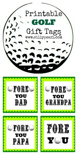 Printable Golf Gift Tags - The Silly Pearl