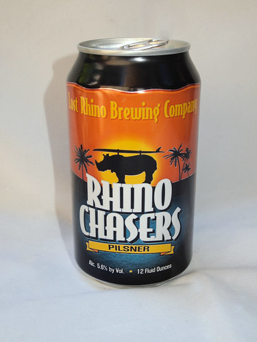 Rhino Chasers Pilsner can