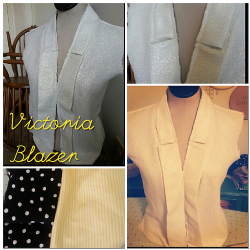 Victoria Blazer - in progress by Sew Festive