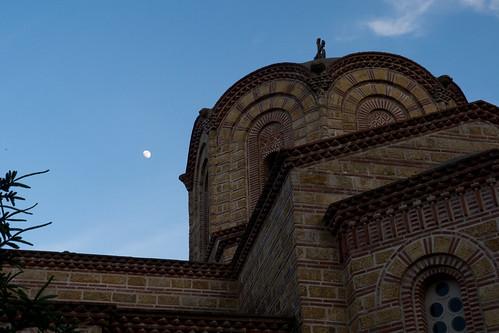 sunset greece monastery gr makedoniathraki moniagioudionisiou