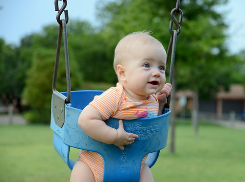 Amelia in the Swing