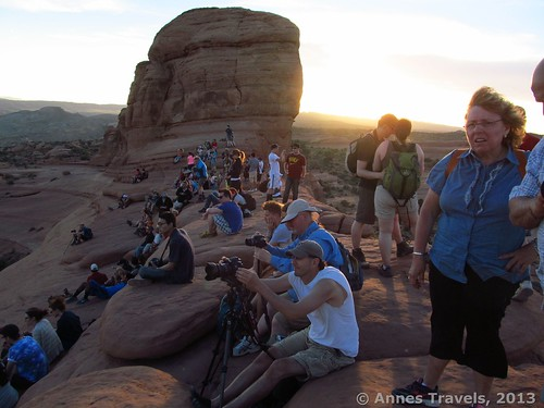 I guess a lot of people like to see Delicate Arch at sunset, too! Arches National Park, Utah