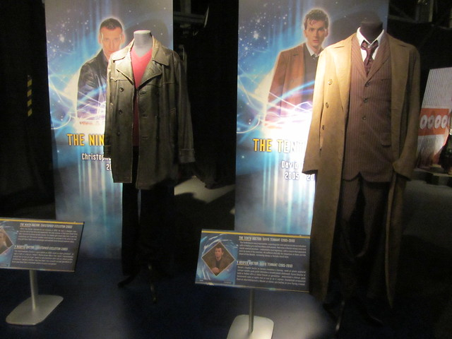 a picture of Dr Who Experience costumes