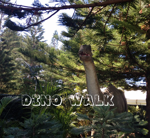 Animatronic Dinosaur Exhibit in the Playground