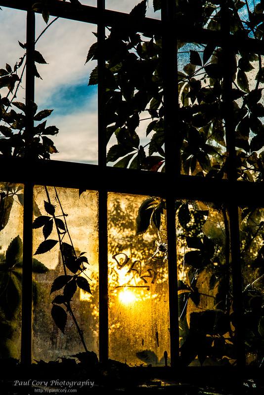 Broken Window Sunset