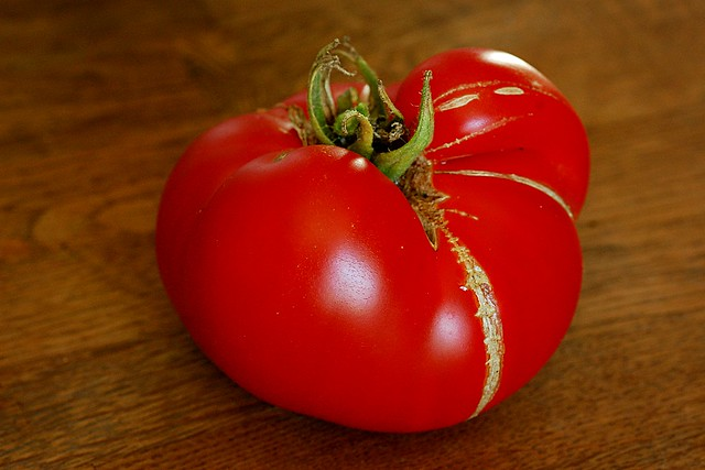 Large ripe tomato