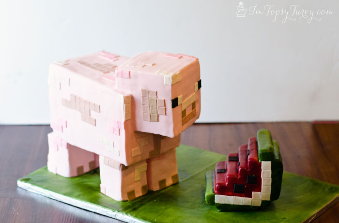 Minecraft Birthday Cake Tutorial Ashlee Marie real fun with real