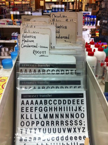 Letraset at Cowling & Wilcox by ‏@alice_devine
