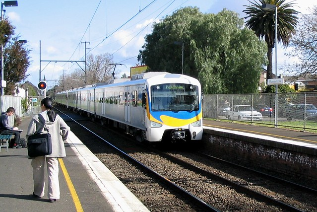 Siemens train showing original livery, 2003