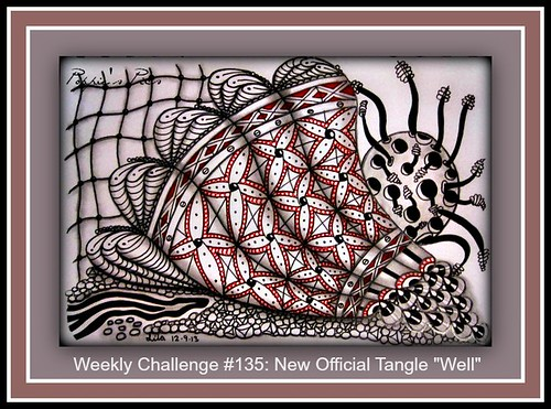 Weekly Diva Challenge # 135 - new official tangle 'Well' by Poppie_60