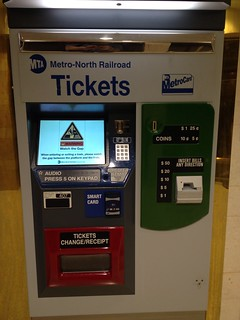New Metro-North Ticket Vending Machine with SMART Card Technology