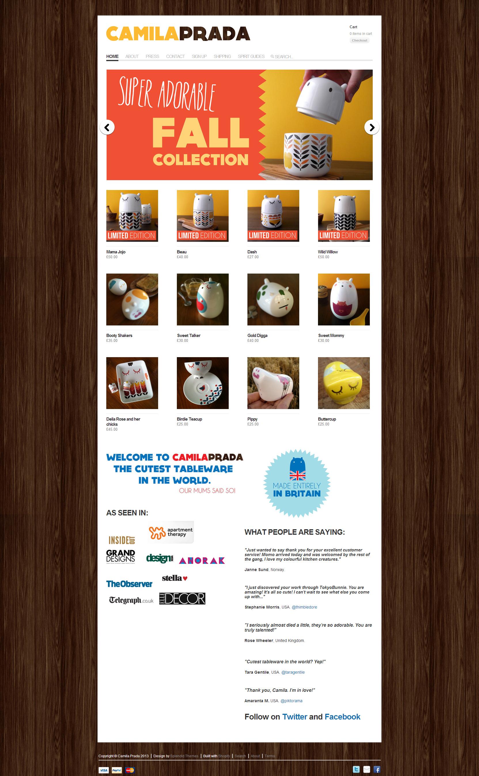 Camila Prada Online Shop