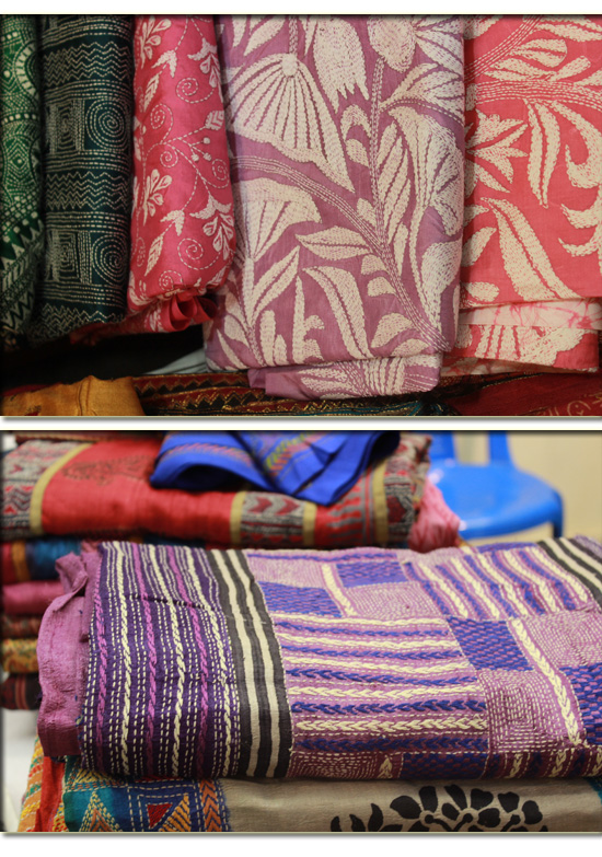 kantha work from shanthiniketan