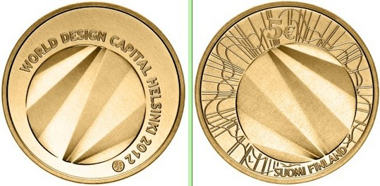 5 Euro Fínsko 2012, World Design Helsinki