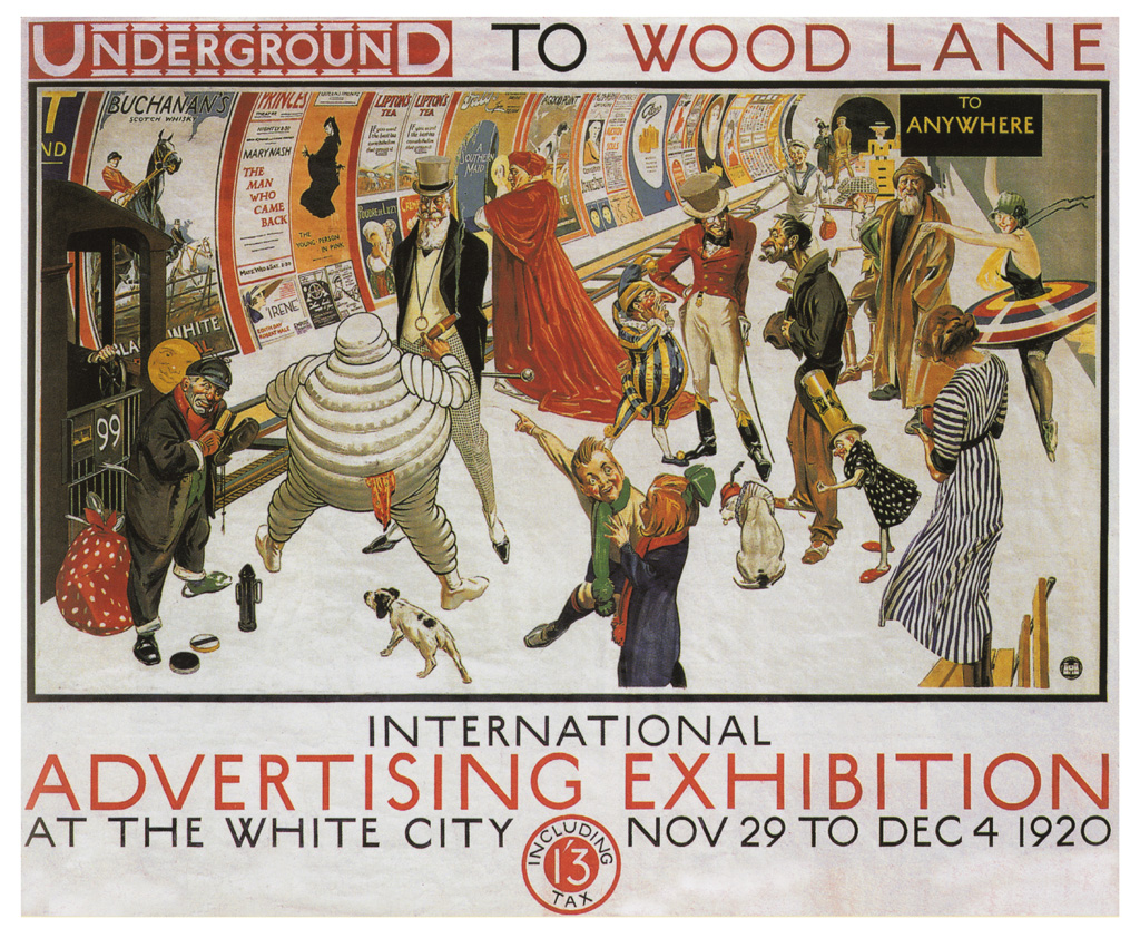 Metro à Londres : Affiche pour l'International Advertising Exhibition - Photo de MCAD Library