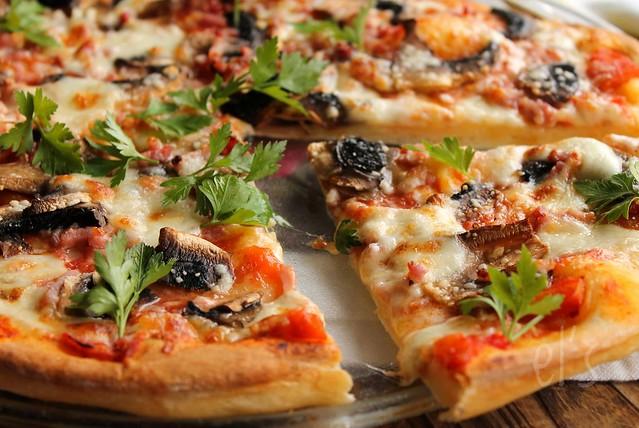 Pizza forestière
