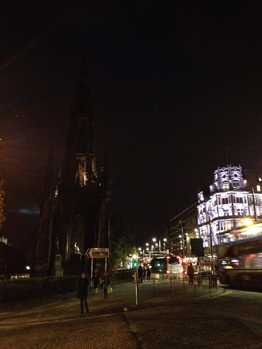 Scott Monument At Night