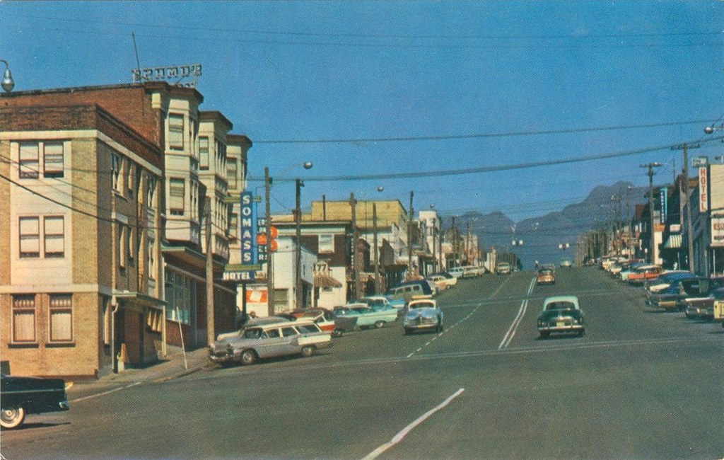 Postcard: Port Alberni, BC, 1958 | Flickr - Photo Sharing! Y Intersection Sign