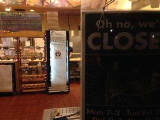 closed but open for the celebrations..
