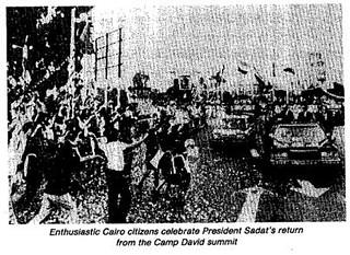 Cairo celebrates Sadat's return from the Camp David Peace talks