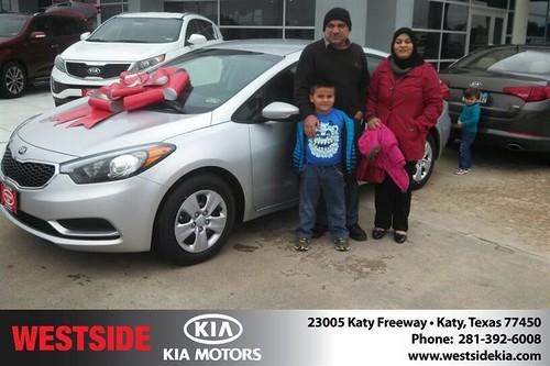 Thank you to Ibrahim  Mahmood on your new 2014 #Kia #Forte from Gil Guzman and everyone at Westside Kia! #NewCar by Westside KIA