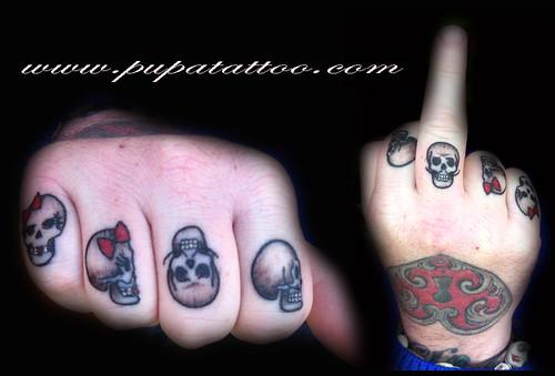 Tatuaje calaveras, Pupa Tattoo, Granada by Marzia PUPA Tattoo