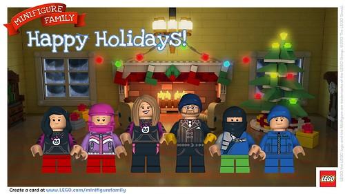 LEGO Minifiure Family Postcard