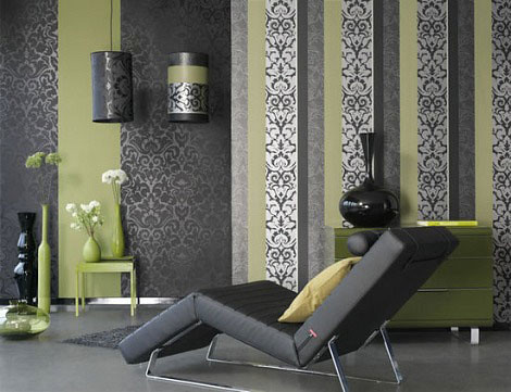 luxury-decor-in-black-gray-and-green