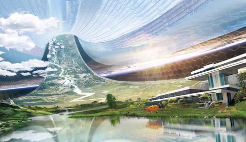 Elysium Interior Concept Art.