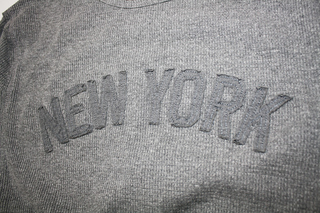 Sportiqe New York Thermal Hand Stitched Lettering