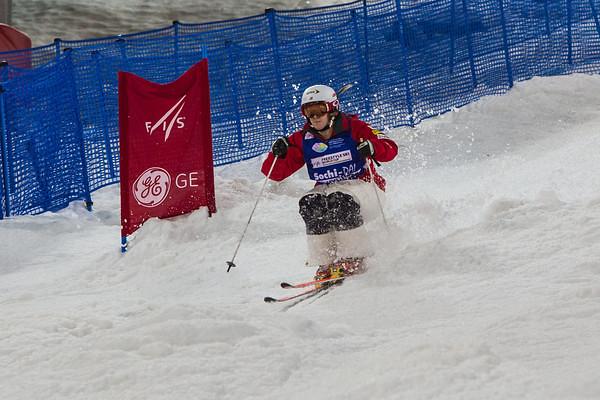 Hannah Kearney at Sochi Moguls test