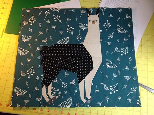 Llama paper piecing