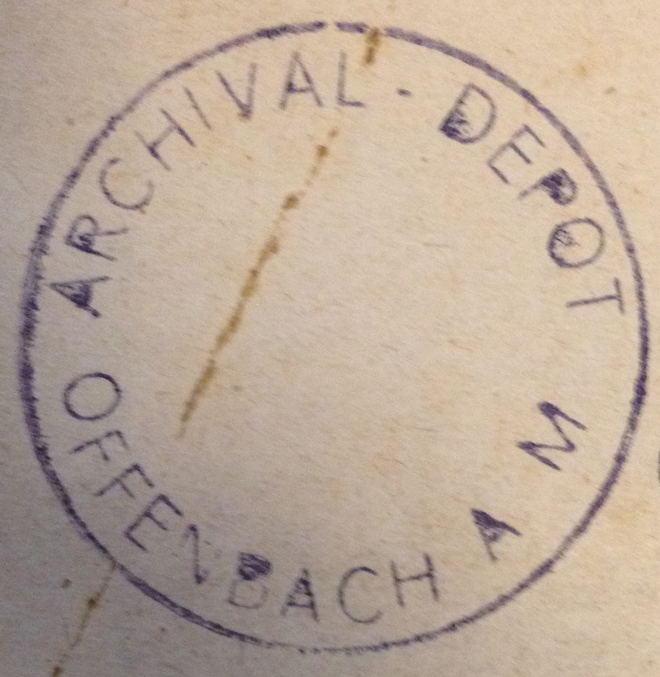 Offenbach Archival Depot