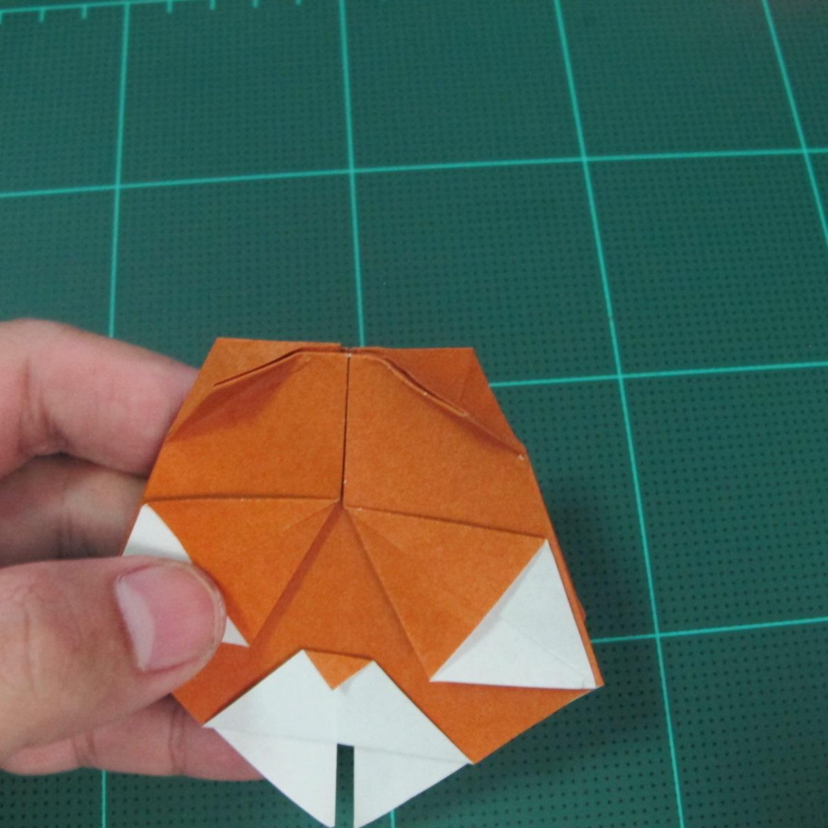 การพับกระดาษเป็นที่คั่นหนังสือหมีแว่น (Spectacled Bear Origami)  โดย Diego Quevedo 026