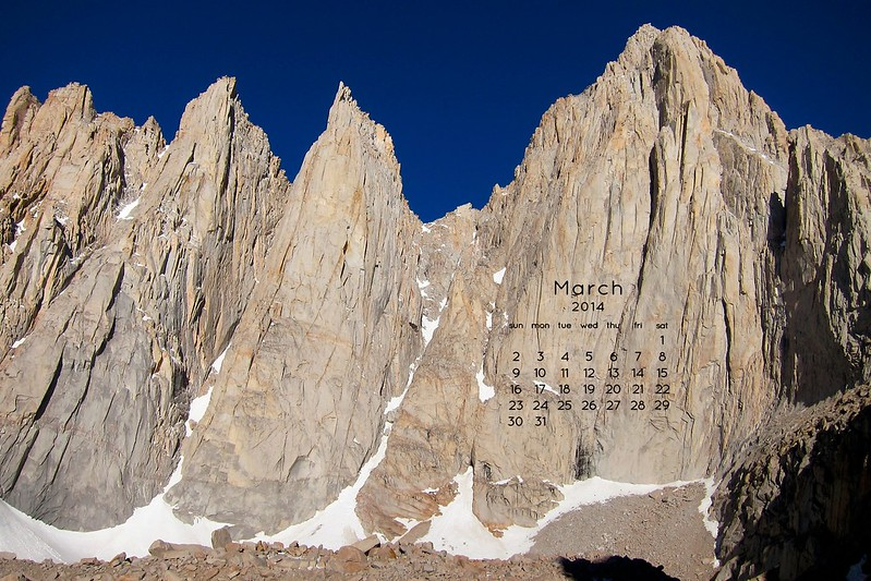 Windows of Mount Whitney March Wallpaper 2014
