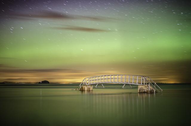 Belhaven2011 - Belhaven Bridge Aurora Borealis (Getty Images)