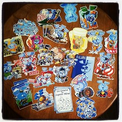 LAPIN BLUE  #stickershock #exhibition #submission Amazing designs from France! Thanks man, the #smurfette is bangin!