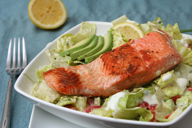salmon ranch salad 6