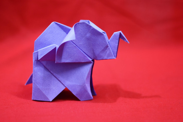 Origami Elephant 3