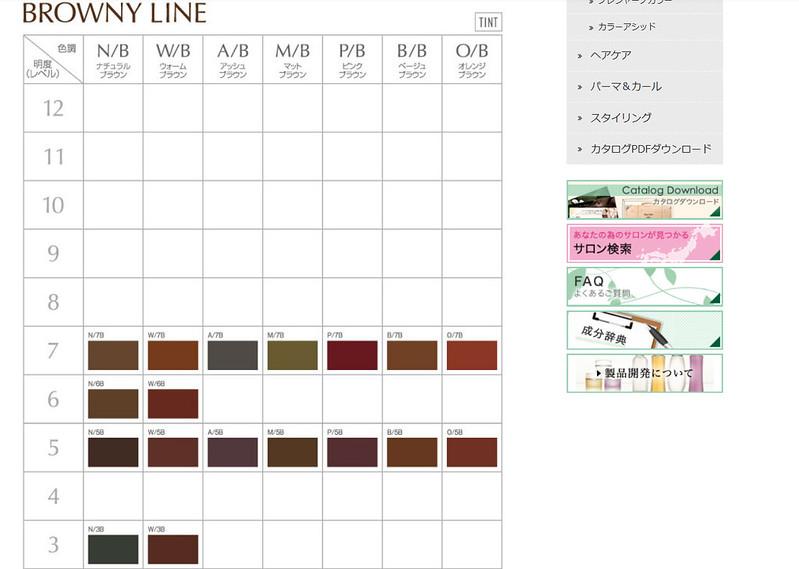 カラーチャート  BROWNY LINE (ADEIRO COLOR) - モルトベーネプロフェッショナル株式会社 - Mozilla Firefox 14.03.2014 114907