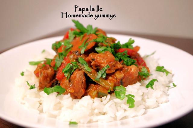 Orez cu legume si carne de curcan (1)