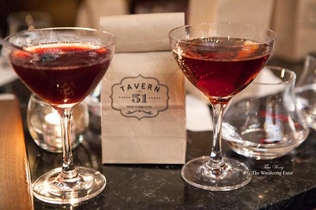 Honey Bramble (left) and Rare Manhattan (right)