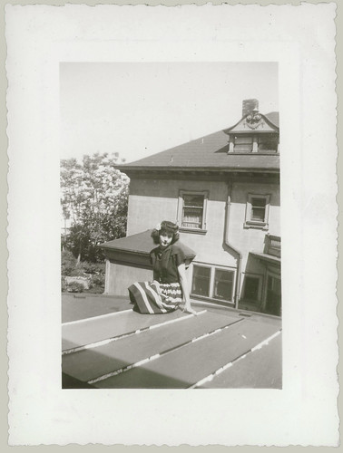 Girl on roof